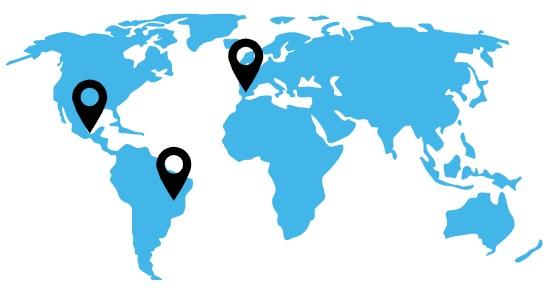Mapa mundo delegaciones Casanovas HT